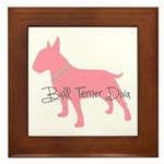 Diamonds Bull Terrier Diva Framed Tile