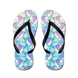 Unicorn Rainbow Pattern Flip Flops
