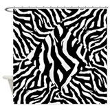 Zebra Animal Print Pattern. Shower Curtain
