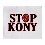 STOP KONY! Throw Blanket