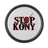 STOP KONY! Large Wall Clock