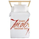 Team Jacob he's hot Twin Duvet