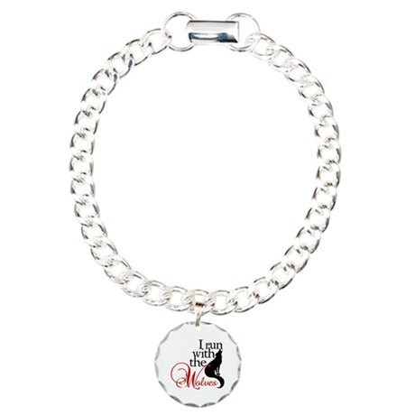 I run with wolves Charm Bracelet, One Charm