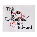 Bella married Edward Throw Blanket