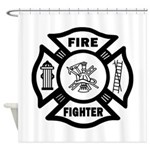 Fire Dept Firefighter Shower Curtain