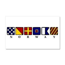 Nautical Norway Car Magnet 20 x 12
