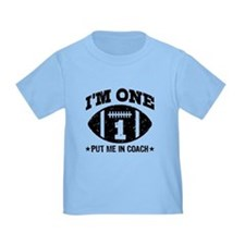 Cute 1 Year Old Football T