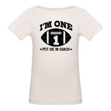 Cute 1 Year Old Football Tee