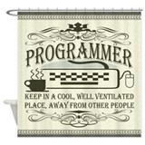 Vintage Programmer Shower Curtain