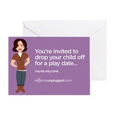 Playdate Drop-off Greeting Card