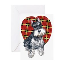 Syble the Schnauzer Greeting Card