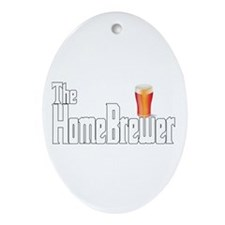 The HomeBrewer Ale Ornament (Oval)