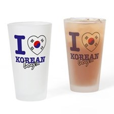 I love Korean boys Drinking Glass