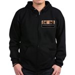 Dachshund Security Service Zip Hoodie (dark)