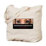 Dachshund Security Service Tote Bag
