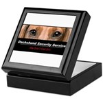 Dachshund Security Service Keepsake Box
