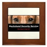 Dachshund Security Service Framed Tile