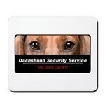 Dachshund Security Service Mousepad
