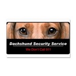 Dachshund Security Service Car Magnet 20 x 12