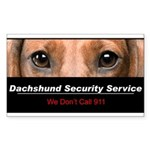 Dachshund Security Service Sticker (Rectangle 10 p