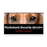 Dachshund Security Service 22x14 Wall Peel