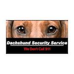 Dachshund Security Service 38.5 x 24.5 Wall Peel
