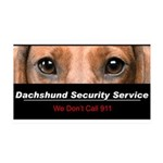 Dachshund Security Service 38.5 x 24.5 Wall Peel