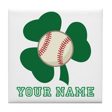 Personalized Irish Baseball Gift Tile Coaster