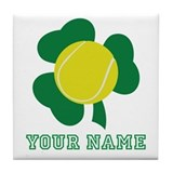 Personalized Irish Tennis Gift Tile Coaster