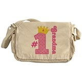 Number One Grandma Gift Messenger Bag