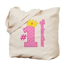 Number One Godmother Gift Tote Bag