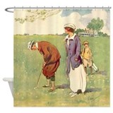 vintage_golfer_shower_curtain. ...
