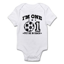 Cute 1 Year Old Soccer Infant Bodysuit