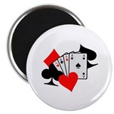 "Poker cards 2.25"" Magnet (10 pack)"