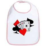 Poker cards Bib