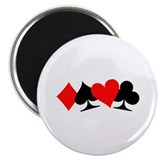 "Poker signs 2.25"" Magnet (10 pack)"