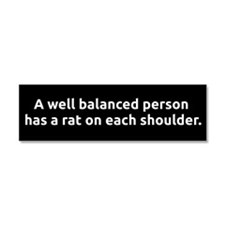 RC's Well Balanced Car Magnet 10 x 3