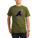 Street Art Crow Organic Men's T-Shirt (dark)