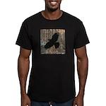 Street Art Crow Men's Fitted T-Shirt (dark)