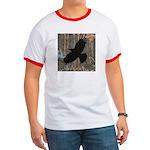 Street Art Crow Ringer T