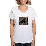 Street Art Crow Women's V-Neck T-Shirt