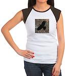 Street Art Crow Women's Cap Sleeve T-Shirt