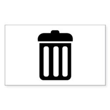 Trash bin Decal