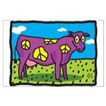 Peace Cow Large Poster