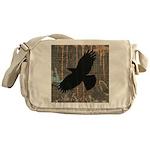 Street Art Crow Messenger Bag