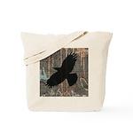 Street Art Crow Tote Bag
