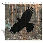 Street Art Crow Shower Curtain