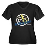 Altered Ego Women's Plus Size V-Neck Dark T-Shirt
