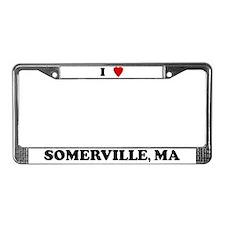 I Love Somerville License Plate Frame