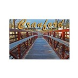 Cranford Footbridge Capital o Rectangle Magnet
